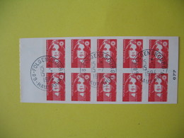 Carnet  Type Marianne  De Briat  N° 2874 C1  Oblitération Folgensbourg  Au 15/7/1994 - Usage Courant