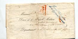 Lettre  Franchise Chancelier Legion Honneur + ? Rouge + Chateau + Convoyeur - Storia Postale