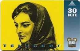 Faroe - Faroese Telecom (Magnetic) - The Movie Barbara - 30Kr. - 20.000ex, Used - Faroe Islands