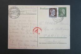 Allemagne IIIe Reich - Entier Hitler Avec Complément - Reichenberg Pour Paris 30.3.44 Cachet Ae Rouge - Censure - Deutschland