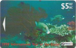 Fiji - Sweetlip Fish - 24FJC - 1998, 49.000ex, Used - Fiji