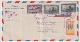 Panama Lettter From Panama To Switzerland 1952 - Panamá