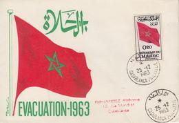 Enveloppe  FDC  1er  Jour   MAROC   Evacuation  Des  Forces  Etrangéres   1963 - Marocco (1956-...)