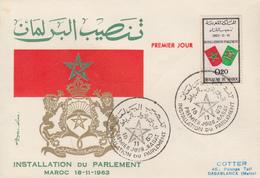 Enveloppe  FDC  1er  Jour   MAROC   Installation  Du  Parlement   1963 - Marocco (1956-...)