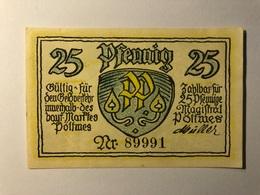 Allemagne Notgeld Pottmes 25 Pfennig - [ 3] 1918-1933 : République De Weimar