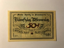 Allemagne Notgeld Pyritz 50 Pfennig - [ 3] 1918-1933 : Weimar Republic