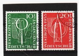 ORY251 DEUTSCHLAND BRD 1955 Michl 217/18 Gestempelt SIEHE ABBILDUNG - Gebraucht
