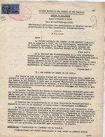 VP12.736 - PARIS - Acte De 1961 - Entre La S.N.C.F Ligne D'ORLEANS à TOURS - Gare DES CORPS & La Sté De SAINT - GOBAIN - Chemin De Fer