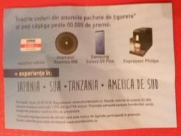 ROMANIA-CIGARETTES LUCKY  CARD,NOT GOOD SHAPE - Tabac (objets Liés)