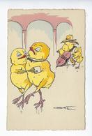 CPA Poussins Illustrateur Klein Violoncelle Violon Musique Danse Humour Humoristique - Animals