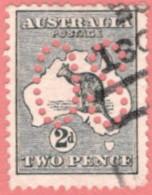 "AUS SC #OA3 U 1913 Official/ 2p Large ""OS"" CV $14.50 - Perfins"
