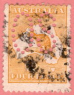"AUS SC #OA6b U 1913 Official/ 4p Large ""OS"", W/faults CV $110.00 - Perfins"