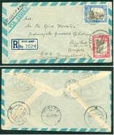 Yemen Aden 1950 Rijeka R Letter Air Mail Ship Battle - Yemen