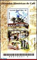 Ref. BR-2881 BRAZIL 2003 AGRICULTURE, COFFEE PLANTATIONS,, PLANTS, COFFEE FARM, MI# B122, S/S MNH 2V Sc# 2881 - Brazil