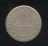 Jeton 0,50 € Casino De Santenay - Casino