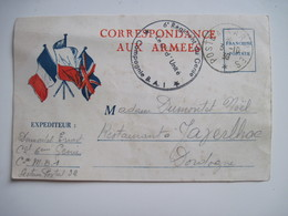 CPSM Correspondance Aux Armees Le 3 / 10 / 1939 - War 1939-45