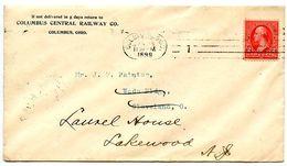 United States 1899 Cover Columbus, Ohio - Columbus Central Railway Co. - 1847-99 Algemene Uitgaves