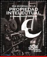 Ref. MX-2868 MEXICO 2014 ART, WORLD DAY OF INTELLECTUAL, PROPERTY, MOVIE, MNH 1V Sc# 2868 - Cinema