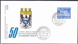 Saargebiet Saar Sarre - 50 Jahre Großstadt Saarbrücken (MiNr: 446) 1959 - FDC - 1957-59 Fédération