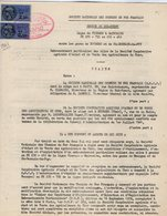 VP12.737- PARIS - Acte De 1961 - Entre La S.N.C.F Ligne De VIERZON à SAINCAISE - BOURGES X DU PUY & La Sté Agricole - Chemin De Fer