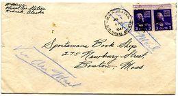 United States 1941 Airmail Cover Kodiak, Alaska - U.S. Naval Air Station To Boston MA - Brieven En Documenten