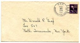 United States 1949 Naval Cover U.S.S. Marquette To North Tonawanda, New York - Etats-Unis