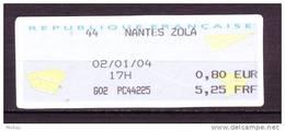 ##4, France, Nantes, Zola, Vignette D'affranchissement, Ema, Frama - 2000 «Avions En Papier»