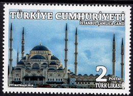 Turkey - 2018 - Istanbul Camlica Mosque - Mint Stamp - 1921-... Republiek