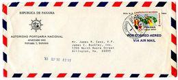 Panama 1983 Airmail Cover To U.S. W/ Scott C438 World Cup Soccer - Panama