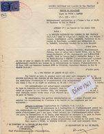 VP12.738 - TOURS - Acte De 1962 - Entre La S.N.C.F Ligne De TOURS à NANTES & Gaz De France à PARIS - Chemin De Fer