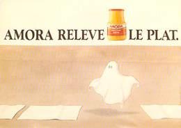 PUB Publicité  NUGERON  J 144 Le Musée De La Rue AMORA RELEVE LE PLAT  (fantôme) (moutarde) * PRIX FIXE - Advertising