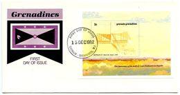 Grenada-Grenadines 1992 Scott 1497 S/S FDC Zeppelin Z.4 Airship - Zeppelins
