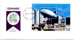 Grenada 1996 Scott 2578 S/S FDC Zeppelin ZT - Germany Airship - Zeppelins