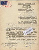 VP12.739 -TOURS - Acte De 1962 - Entre La S.N.C.F Ligne De TOURS à THOUARS - Gare De JOUE LES TOURS & La Sté TREFIMETAUX - Chemin De Fer