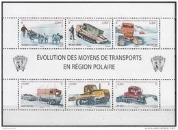 TAAF 2010 Yvert Feuille Complet 560 - 565 Neuf ** Cote (2015) 21.00 Euro Evolution De Moyens De Transport - Blocs-feuillets