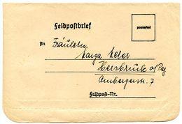 Germany C.1940's WWII Feldpostbrief / Military Postal Stationery - Entiers Postaux