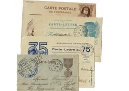 4 LETTRE/CARTE/ CORRESPONDANCES  Circulees 14-18 Annimees - Marcophilie (Lettres)