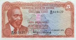 Kenya 5 Shillings, P-11 (1975) VF - Kenia