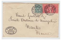 GRANDE BRETAGNE -- IRLANDE -- LETTRE DE DUBLIN POUR ARMATEUR NANTAIS -- 1902 - Lettres & Documents