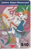 AUSTRALIA(chip) - 1999 Year Of The Rabbit($10), Tirage 50000, Exp.date 02/01, Used - Konijnen