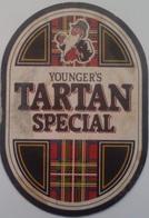Posavasos Cerveza Tartan. Younger's. Newcastle. Reino Unido. Años '90 - Portavasos