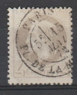 FRANCE 1862 :  NAPOLEON N°27 - 4 C . Gris  - Oblitéré - - 1863-1870 Napoléon III Lauré
