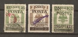 Albanie 1919 - Petit Lot De 3 Timbres Fiscaux Austro-hongrois Surchargés - 68/73/92 - MH/Oblitéré - Albanie