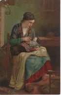 CPA ART PEINTURE - J F MILLET - Paysanne Allaitant ( Musée Du Louvre ) - Malerei & Gemälde