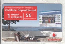 GREECE - Vodafone Internet Prepaid Card 5 Euro, Exp.date 25/04/15, Mint - Greece
