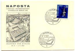 Germany, Berlin 1963 Exhibition Cover NAPOSTA - Nationale Postwertzeichen-Ausstellung - Covers