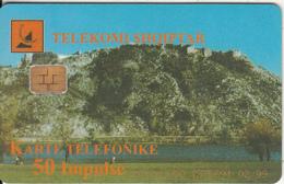 ALBANIA(chip) - Bridge, Albtelecom Telecard 50 Units(orange Writing), 02/99, Used - Albania