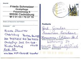 Germany 2002 Used 100pf. / 15c. Schwerin Castle Postal Card To Neustadt - [7] Federal Republic