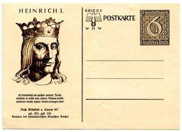 Germany 1930's Mint 6pf. + 4pf. Winterhilfswerk Postal Card, Cachet Of Heinrich I - Germany