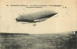 BALLON DIRIGEABLE REPUBLIQUE AEROSTATION MILITAIRE - Dirigeables